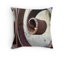 rusted relic of times gone by Throw Pillow