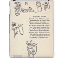 Miniature Under the Window Pictures & Rhymes for Children Kate Greenaway 1880 0041 Rolling Hoops iPad Case/Skin