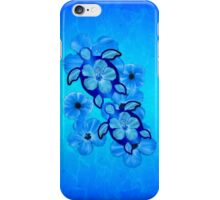Blue Hawaiian Honu Turtles iPhone Case/Skin