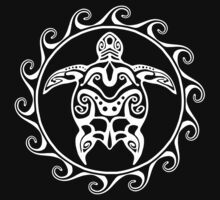 White Tribal Turtle by BailoutIsland
