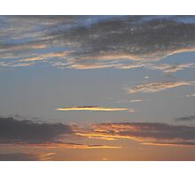 Double Blue Clouds Photographic Print
