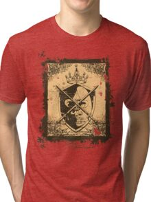 Heraldry Crown, Swords and Shield Tri-blend T-Shirt