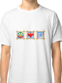 Peace Love Sandy Feet Classic T-Shirt