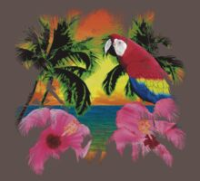 Parrot And Palm Trees Kids Clothes