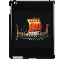 Old time  Russian warship 10th century  iPad Case/Skin