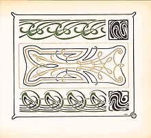 Maurice Verneuil Georges Auriol Alphonse Mucha Art Deco Nouveau Patterns Combinaisons Ornementalis 0021 by wetdryvac