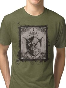 Heraldic Crown, Swords and Shield - Heraldry Tri-blend T-Shirt