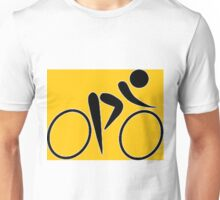 Cyclist Yellow. Unisex T-Shirt