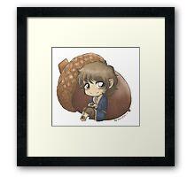 Bilbo & Acorn Framed Print