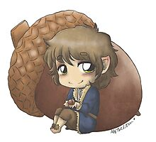 Bilbo & Acorn Photographic Print