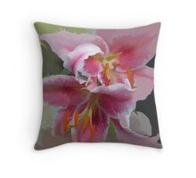 Painted version of the Fantasy Lily Throw Pillow