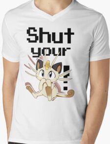 Shut Your Meowth! Mens V-Neck T-Shirt
