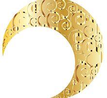 Swirly Moon Gold by AnnArtshock