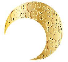 Swirly Moon Gold Photographic Print