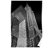Chrysler Building Outline Poster