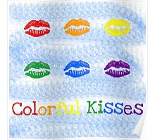 Colorful Kisses Poster