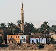 Minaret on the West Bank of River Nile by rhallam