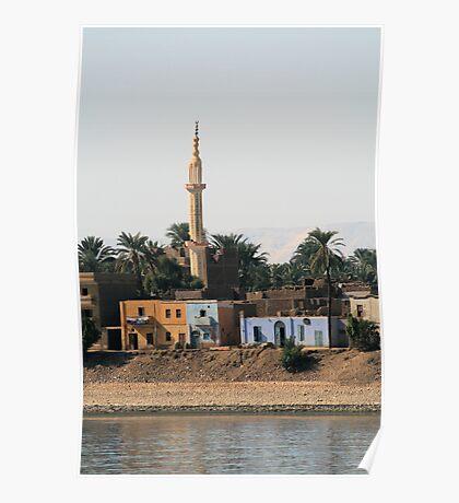 Minaret on the West Bank of River Nile Poster