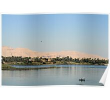 West bank of the Nile south of Luxor 3 Poster