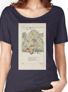 Mother Goose or the Old Nursery Rhymes by Kate Greenaway 1881 0015 There Was an Old Woman Lived Under a Hill Women's Relaxed Fit T-Shirt