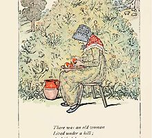 Mother Goose or the Old Nursery Rhymes by Kate Greenaway 1881 0015 There Was an Old Woman Lived Under a Hill by wetdryvac