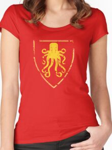 Greyjoy Classic Castle (distressed) Women's Fitted Scoop T-Shirt