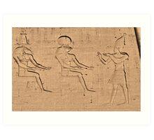 Horus god hieroglyph Art Print