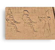 Horus god hieroglyph Canvas Print