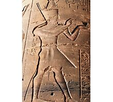 Pharaoh hieroglyph Photographic Print