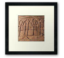 Ankh symbol hieroglyph Framed Print