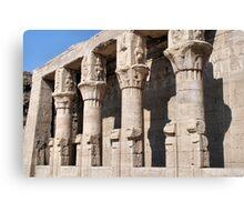 Columns at Edfu Temple 2 Canvas Print