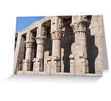 Columns at Edfu Temple 2 Greeting Card