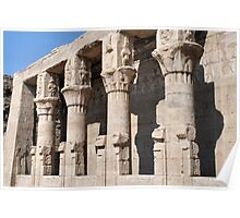 Columns at Edfu Temple 2 Poster