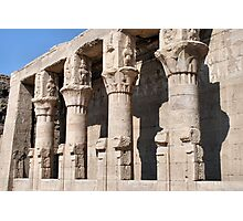 Columns at Edfu Temple 2 Photographic Print