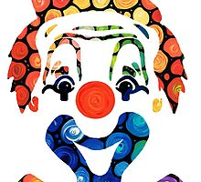 Clownin Around - Funny Circus Clown Art by Sharon Cummings