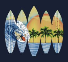 Surfer And Surfboards by BailoutIsland