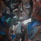 Mixed media painting (acrylic): old lady of poverty by Alyshia Hansen