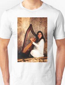Angel Playing Harp T-Shirt