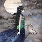 """""""Night of the Wolf"""" Gothic Fantasy Art by Molly Harrison by Molly  Harrison"""