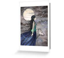 """Night of the Wolf"" Gothic Fantasy Art by Molly Harrison Greeting Card"