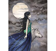 """Night of the Wolf"" Gothic Fantasy Art by Molly Harrison Photographic Print"