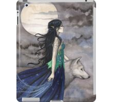 """Night of the Wolf"" Gothic Fantasy Art by Molly Harrison iPad Case/Skin"