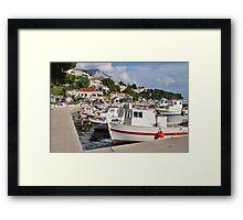 Brela harbour, Croatia Framed Print