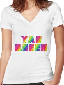 Broad City YAS QUEEN Women's Fitted V-Neck T-Shirt