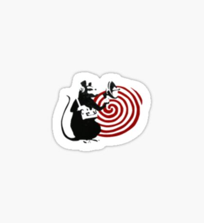 Banksy Rat Listening Device Sticker