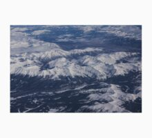Flying Over the Snow Covered Rocky Mountains Kids Clothes