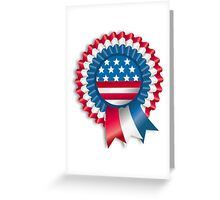 4th of July Ribbon Memorial Day Greeting Card
