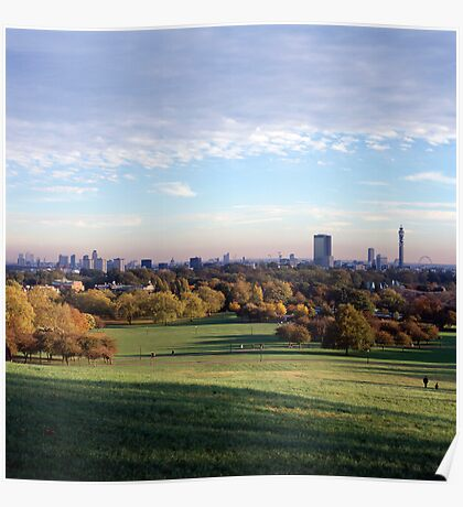 View over London from Primrose Hill Poster