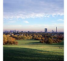 View over London from Primrose Hill Photographic Print
