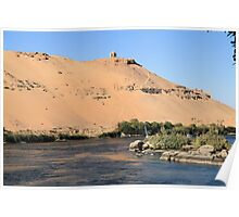 Temple on banks of River Nile 4 Poster
